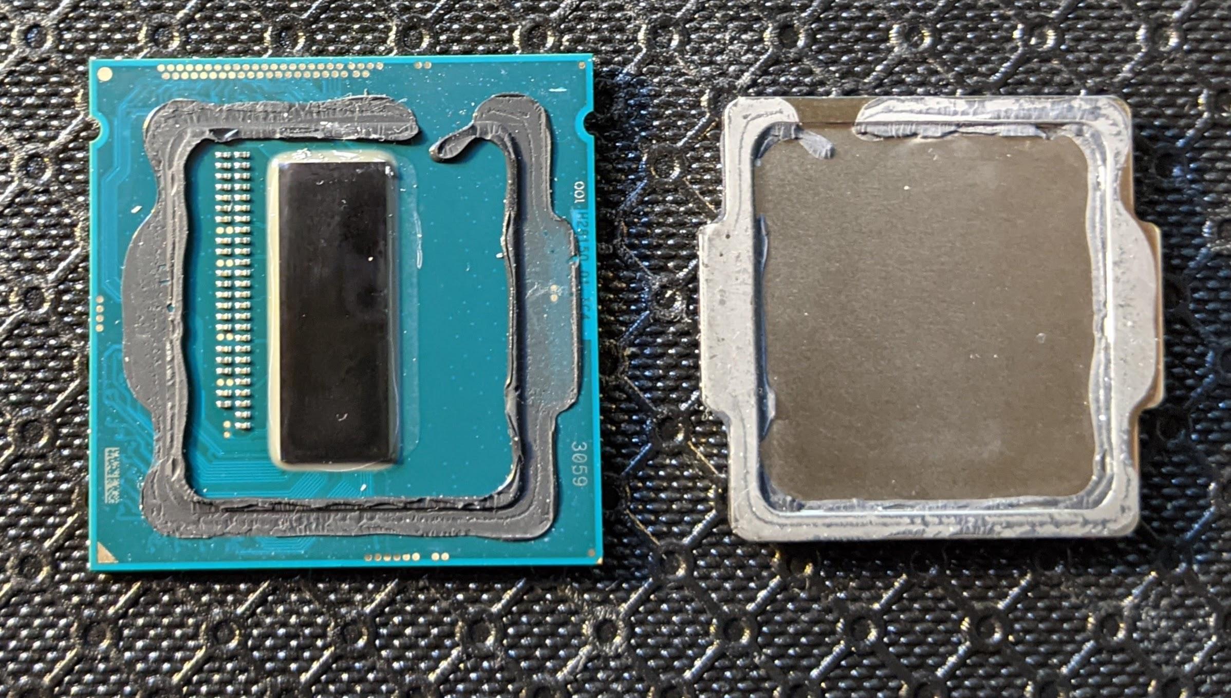 CPU delidded
