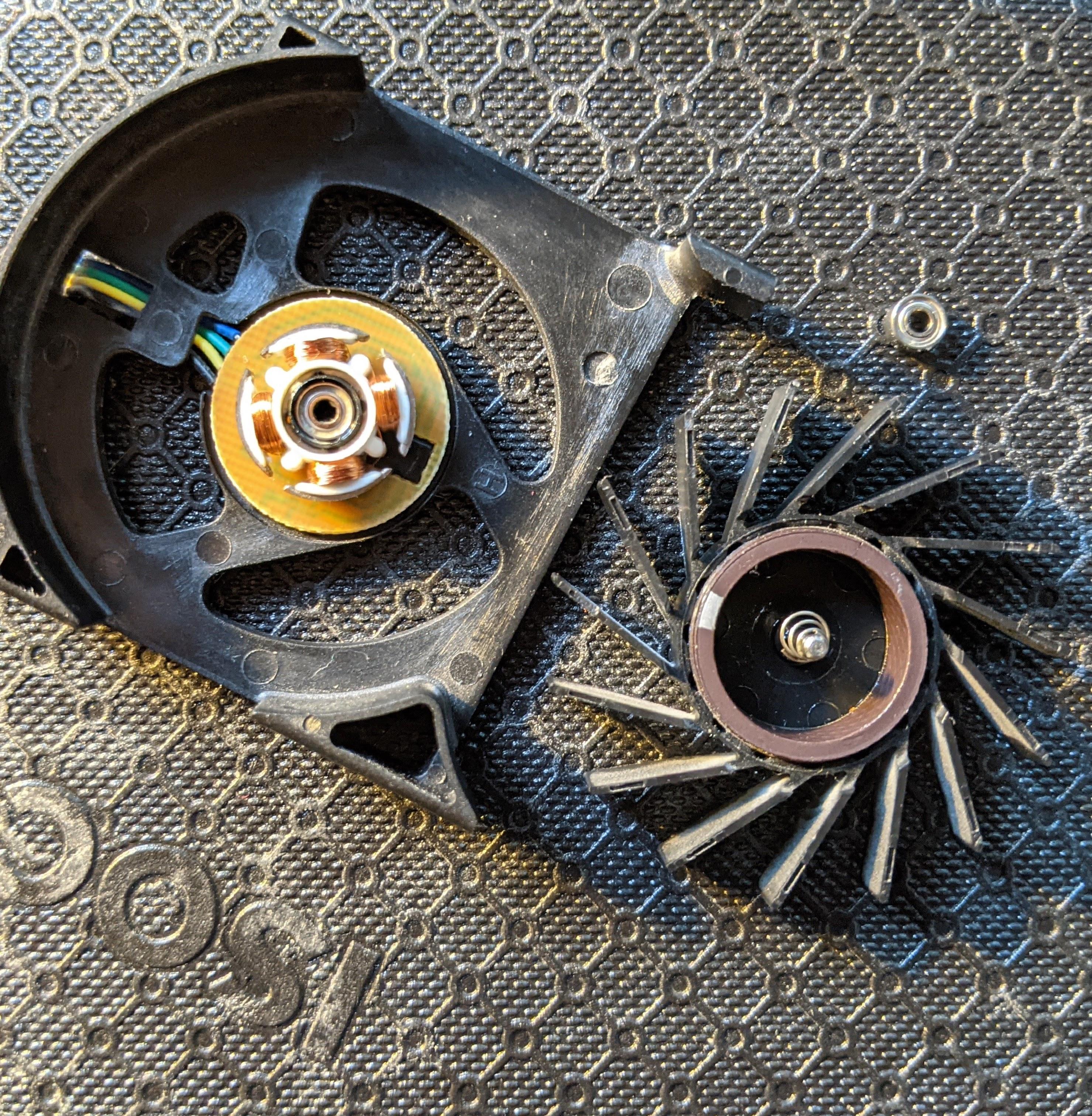FirstD fan disassembled