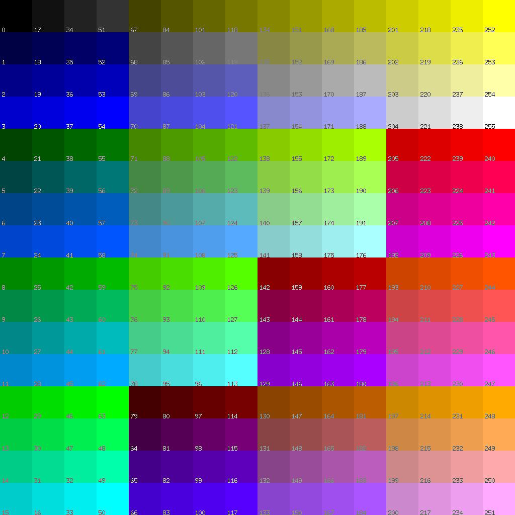 Plan9 Palette